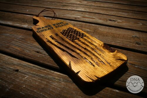 MAKE KIDS GREAT AGAIN Wood Carved Paddle Spanking Wooden Wall Plaque