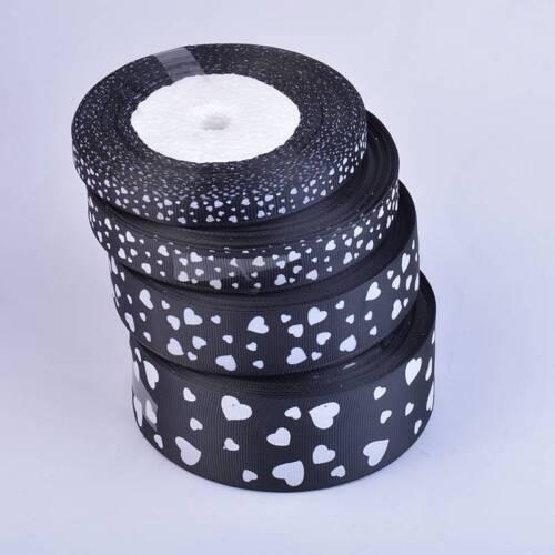 Heart Grosgrain Ribbon Roll 25 Yards Width 10 15 25 38mm Wedding Card Make Gift