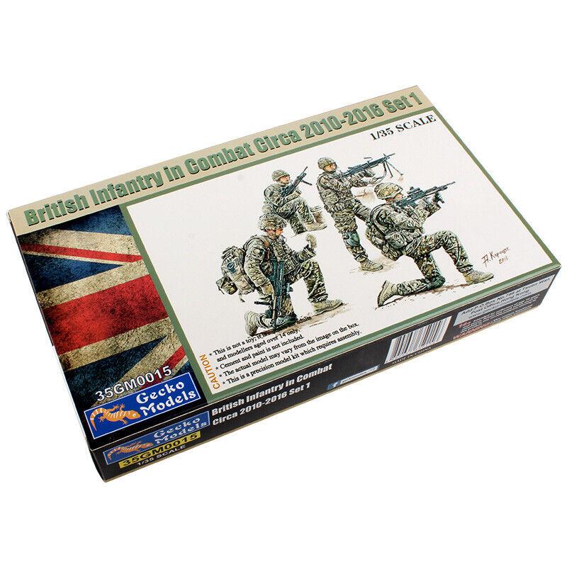 Gecko Models 1//35scale 35GM0016 BRITISH INFANTRY IN COMBAT CIRCA 2010-2016 SET 2