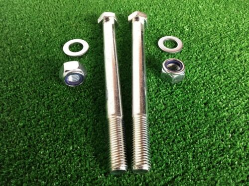Tow Ball Bolts 180mm Long C//w Nyloc Nuts /& Washers 8.8 Tensile PAIR Tow Bar
