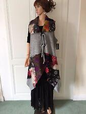 Waistcoat by Sarah Santos Lagenlook in Boiled Wool Asymmetrical, Lagenlook