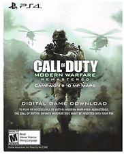 Call of Duty: Modern Warfare Remastered - PS4 Voucher DLC Code Card (no game)