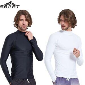 Men-Rash-Guards-Long-Sleeve-Sun-Shirts-Anti-UV-Beach-Surfing-Swim-Top-Swimwear