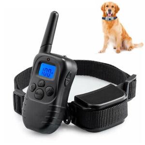 US Remote Dog Pet Electric Shock Training Collar 4 Modes 875 Yards