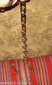 ANTIQUE-FRENCH-BRONZE-CHANDELIER-CANOPY-CHAIN-32-28-INCHES