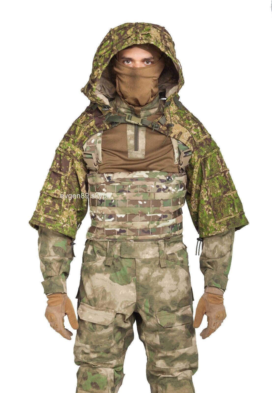 Disguise Sniper Coat    Viper Hood Russian Spetsnaz Ripstop Pencott Greenzone  at cheap