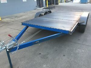 Car-Trailer-Tandem-axle-12X6-6FT-2T-USE4-RACE-FORD-HOLDEN-NO-RAMPS-OR-PAINT-INCL