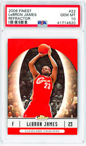 LEBRON-JAMES-2006-Topps-Finest-22-REFRACTOR-Perfect-PSA-10-Grade-Card