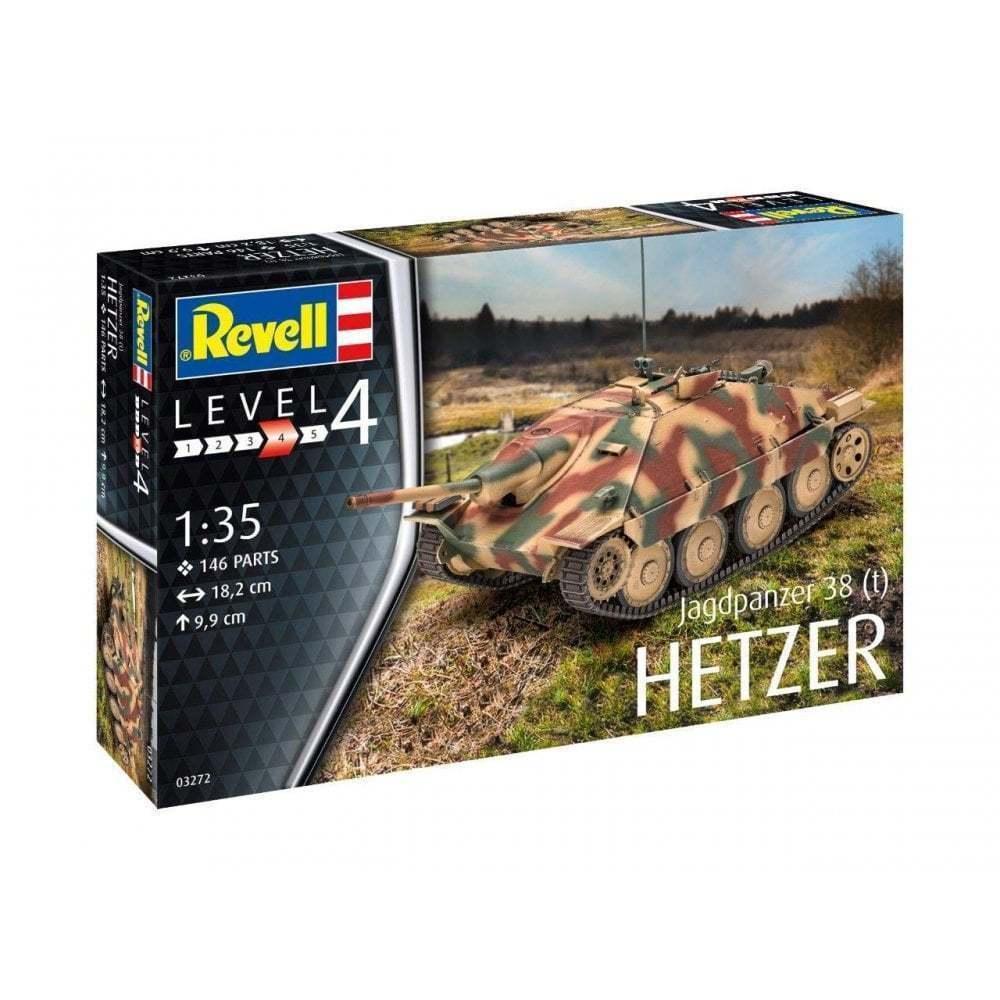Revell 03272 Jagdpanzer 38 (T) Hetzer Plastic Model Kit, Green, 1 35