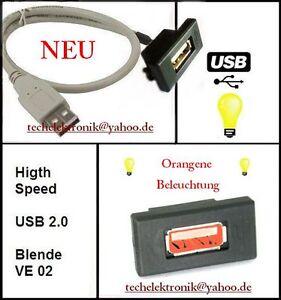 USB-Einbaubuchse-BELEUCHTUNG-Kabel-50cm-passend-fuer-BMW-E36-E30-E60-E90-E91-E93