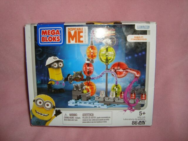 2015 Mega Bloks Despicable Me Jelly Lab 86pcs NIP Building Blocks