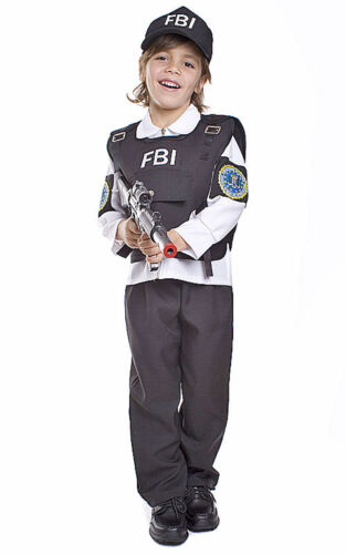 FBI Agent Child Cop Costume By Dress up America