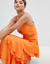 Missguided-Orange-Strappy-Ruffled-Tiered-Maxi-Dress-Size-6-10 thumbnail 4