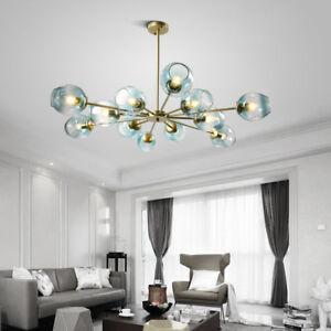 Large Chandelier Lighting Glass Lamp Bedroom Pendant Light Kitchen Ceiling Light Ebay