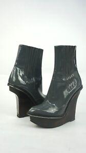 e3c08de9e222 Image is loading Stella-McCartney-Wood-Platform-Patent-Ankle-Boots-36-