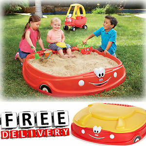 Details About Sandbox With Cover Little Tikes Play Outdoor Sand Fun Kid Baby Toy Backyard New
