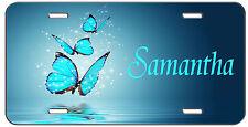 PERSONALIZED CUSTOM MONOGRAM VANITY LICENSE PLATE BLUE BUTTERFLIES AUTO TAG