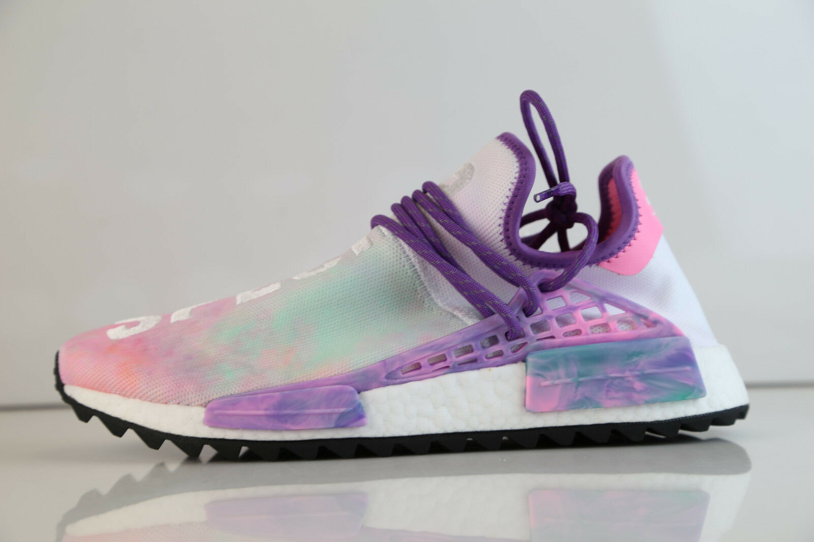 Adidas PW Pharrell Williams resplandor HOLI NMD Trail Human Race Perfecto Estado Rosa resplandor Williams AC7362 5-13 f2a64a