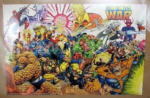 original 1992 marvel press avengers infinity war poster 34x22 112