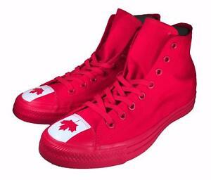 61c0f3b29352 Converse Chuck Taylor All Star Flag Toe Canada Canadian Hi High Top ...