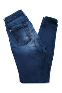 7-For-All-Mankind-Womens-High-Rise-Skinny-Leg-Ankle-Jeans-Blue-Cotton-Size-26