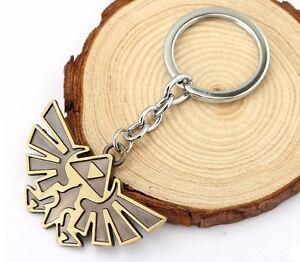 Details about Legend of Zelda Pendant Hylian Wingcrest Crest Symbol  Keychain Key Chain Ring