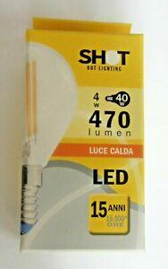 Lampadina-filamento-LED-SHOT-4W-50Hz-E14-fascio-360-WLD3004X2-nuovo-imballato
