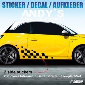 Détails Sur 998 Sticker Racing Flag Pour Opel Adam Aufkleber Decal Adesivi Pegatina