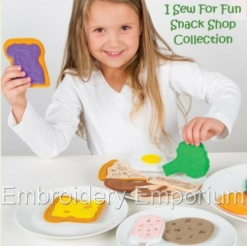 I SEW FOR FUN SNACK SHOP COLLECTION MACHINE EMBROIDERY DESIGNS ON CD OR USB