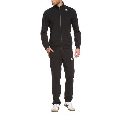 Adidas Essentials Woven Training Tracksuit - Black Mens Size