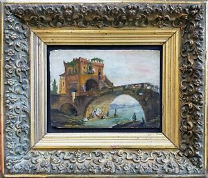 Oil-on-panel-el-ponte-salario-18-or-19eme-by-Hubert-robert