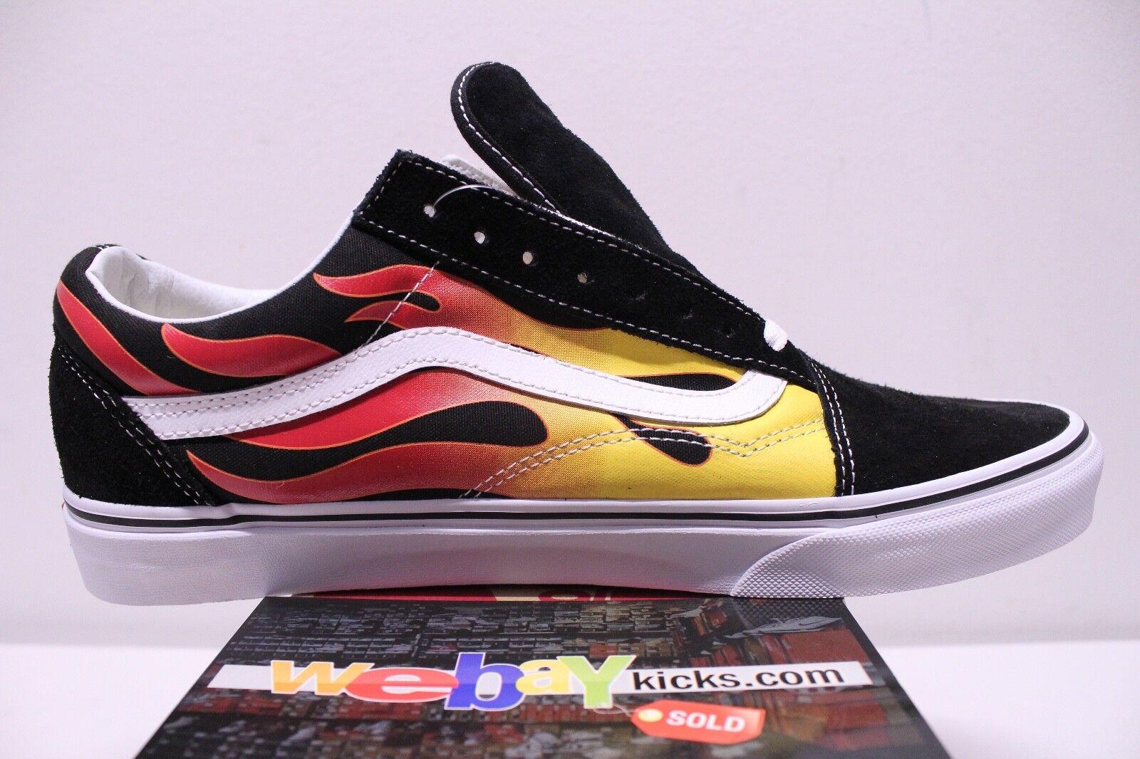 Vans Old Old Old Skool Flames nero rosso bianca scarpe da ginnastica Uomo Dimensione 12 Brand New 2a51cf