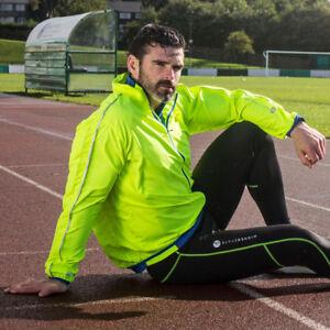 Higherstate-Lightweight-Mens-Yellow-Blue-Running-Sports-Zip-Jacket-Top