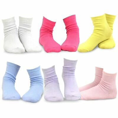 TeeHee Kids Girls Cotton Basic Crew Socks 6 Pair Pack Naartjie