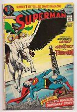 Bronze Age SUPERMAN #249 1972 VF - 1ST APPEARANCE & ORIGIN TERRA-MAN, NEAL ADAMS