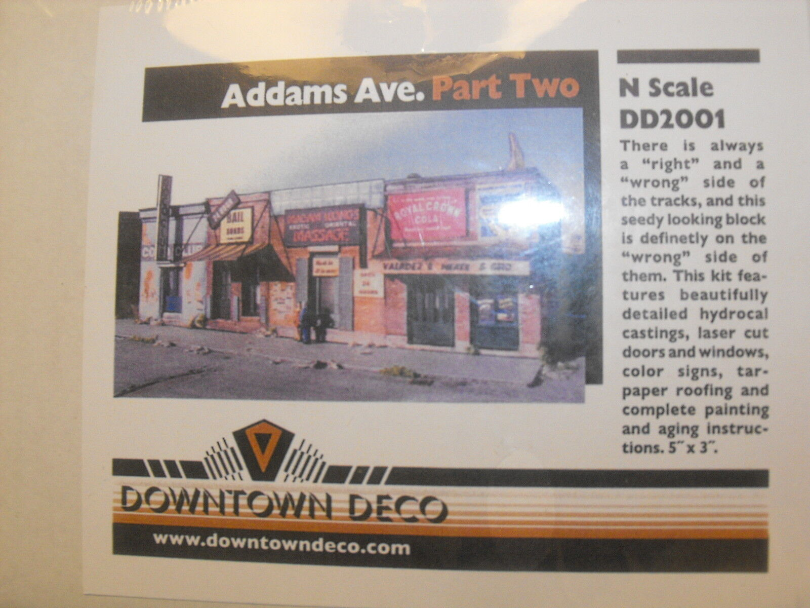 N SCALE DOWNTOWN DECO ADAMS AVE. PART TWO DD 2001
