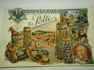 CONSERVE-F-LLI-POLLI-MILANO-GENOVA-PARMA-BELLISSIMA-CARTOLINA-NUOVA-RIPRODUZIONE