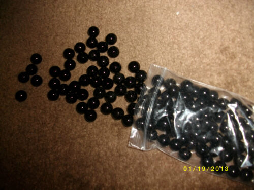 midnight black 40pcs 9//16ths dad,s collection VINTAGE Lot of Marbles