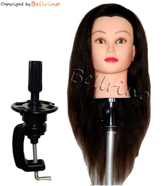 "*USA SELLER"" 24"" Cosmetology Mannequin Head 100% HUMAN Hair WITH TABLE CLAMP *)"