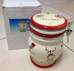 Contenitore-Barattolo-ermetico-ceramica-Natale-Barattolo-con-decori-Natale