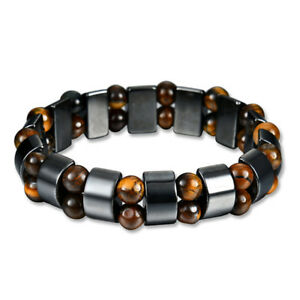 Black-amp-Magnetic-Bracelet-Hematite-Stone-Health-Care-Weight-Loss-JewelryTL