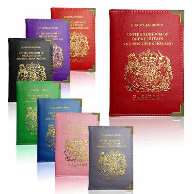 100% Genuine New Custodia Per Passaporto Per Regno Unito & Passaporto Europeo In Pelle Pu Copertura-mostra Il Titolo Originale Originale Al 100%