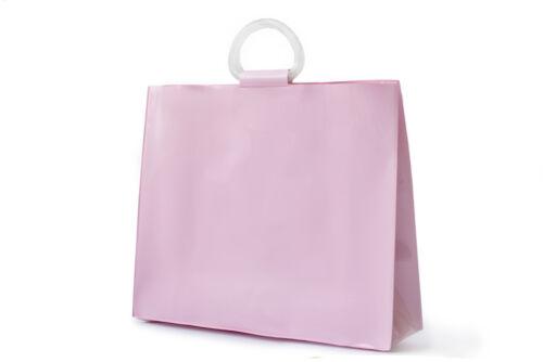 Acrylic Bag Vinyl Waterproof Plastic Handbag for Women Beach Pool Style Pink