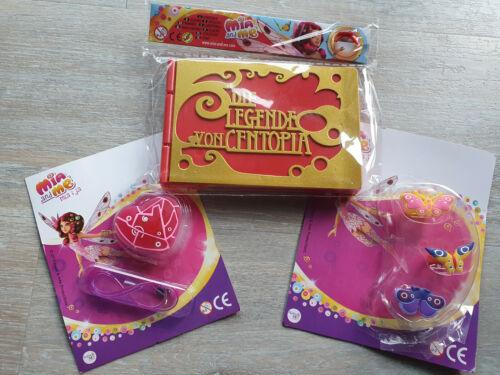 Box NEUF! Mia and me-Centopia Livre - 3er Set anneaux-cœur de Centopia!!