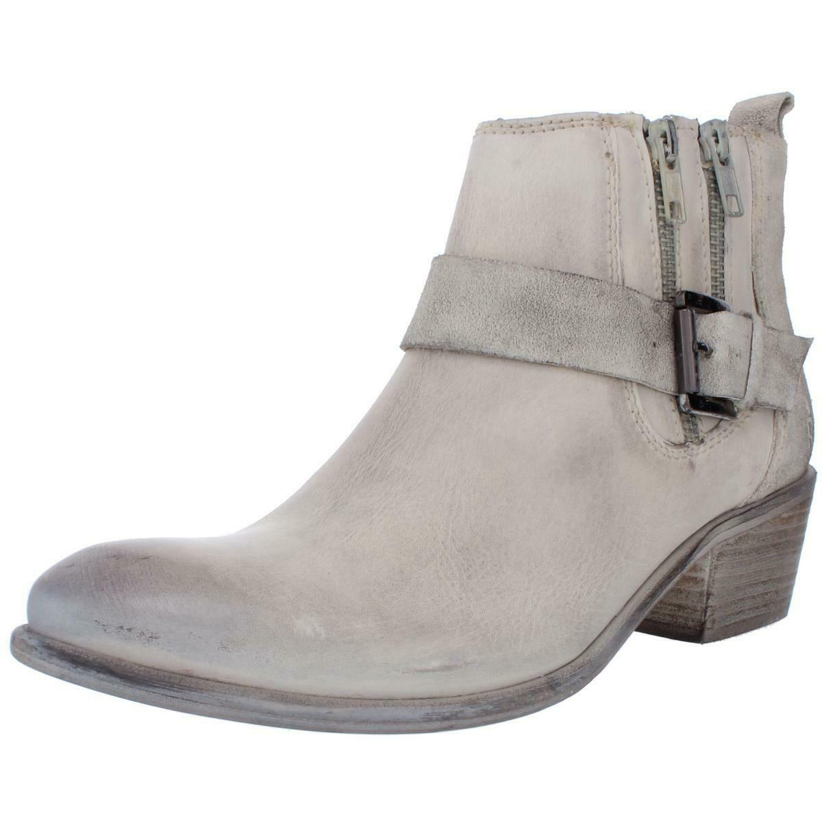 ROAN Womens Liza Ivory Leather Ankle Ankle Boots Shoes 10 Medium (B,M) BHFO 4733