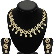 Sukkhi Sublime Gold Plated AD Necklace Sets for Women(2165NADL1400)