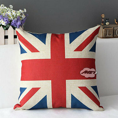 "Cotton&Linen 17"" Home Decorative Throw Pillow Cushion Cover Case Square Stripe"