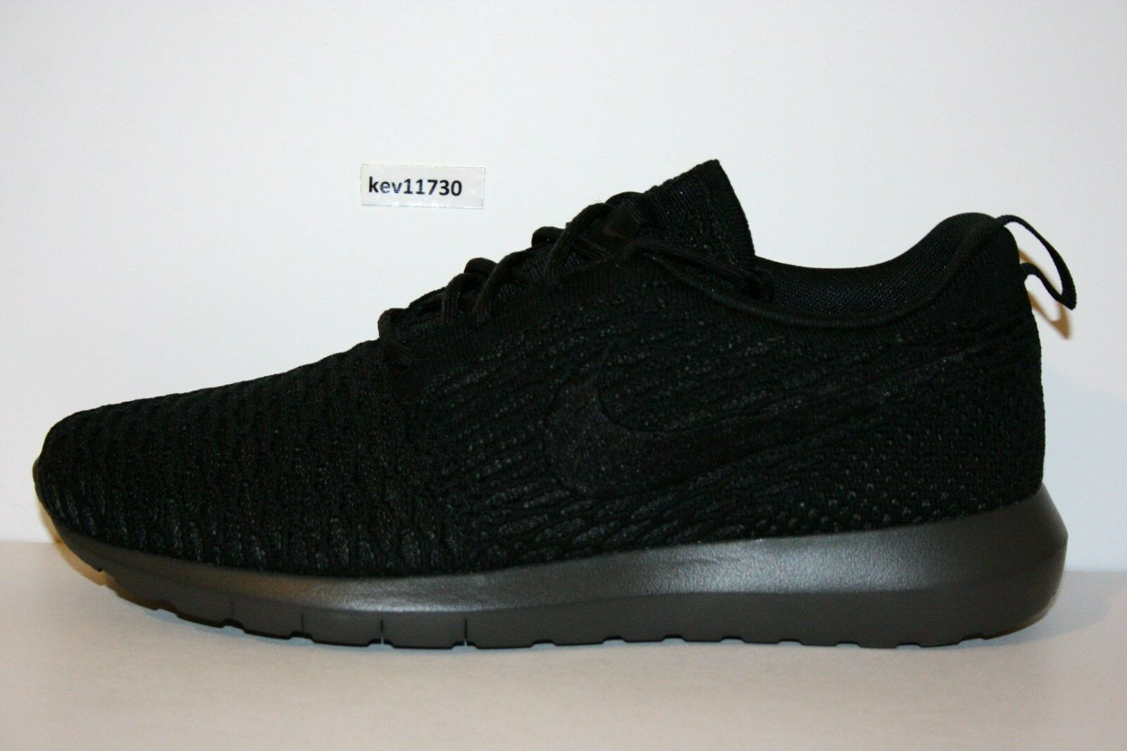 AUTHENTIC NIKE Roshe Run NM Flyknit SE Black Midnight Fog  677243 001 Men size