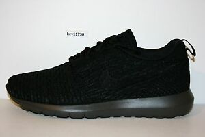 lowest price c717d 72a12 Image is loading AUTHENTIC-NIKE-Roshe-Run-NM-Flyknit-SE-Black-