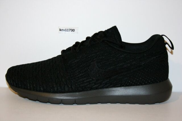 e5553a9848c0e AUTHENTIC NIKE Roshe Run NM Flyknit SE Black Midnight Fog 677243 001 Men  size